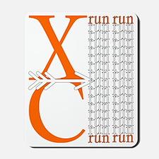 XC Run Orange White Mousepad