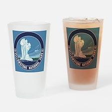 circle-Yellowstone Drinking Glass