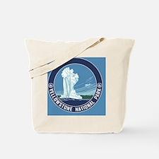 circle-Yellowstone Tote Bag