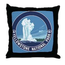 circle-Yellowstone Throw Pillow