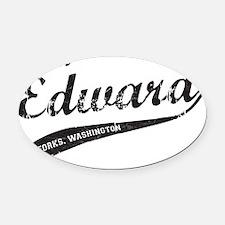 Edward Oval Car Magnet