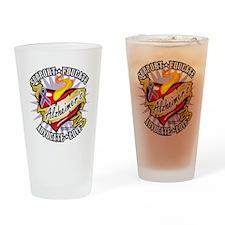 Alzheimers-Classic-Heart Drinking Glass
