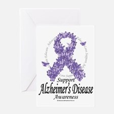 Alzheimers-Disease-Butterfly-Ribbon- Greeting Card