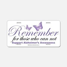 Remember-Alzheimers-2009 Aluminum License Plate