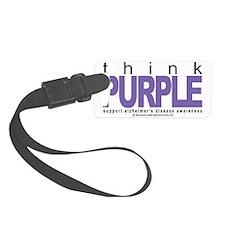 Alzheimers-THINK-Purple Luggage Tag