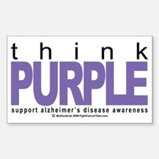 Alzheimers-THINK-Purple Decal