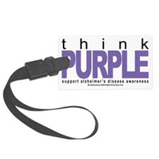 Alzheimers-THINK-Purple Luggage Tag