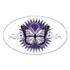 AlzheimersTribal-Butterfly-2009-blk Decal