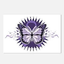 AlzheimersTribal-Butterfl Postcards (Package of 8)