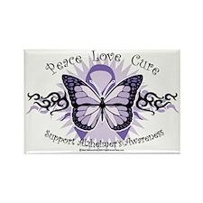 AlzheimersTribal-Butterfly-2009 Rectangle Magnet