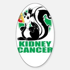 Kidney-Cancer-Stinks-blk Sticker (Oval)