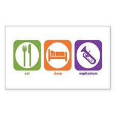 Eat Sleep Euphonium Rectangle Decal