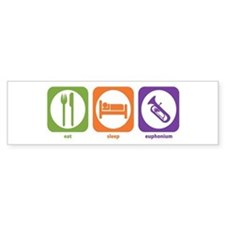 Eat Sleep Euphonium Bumper Car Sticker