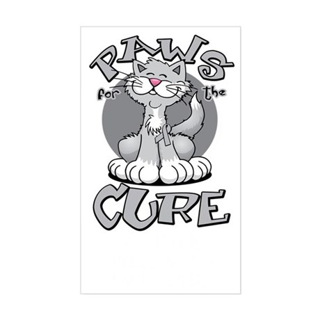 Paws-for-the-Cure-Cat-Parkinso Sticker (Rectangle)