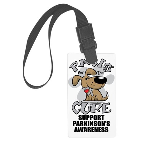 Paws-for-the-Cure-Parkinsons Large Luggage Tag
