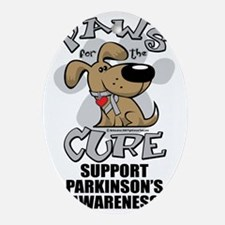 Paws-for-the-Cure-Parkinsons Oval Ornament