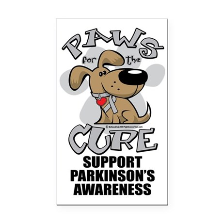 Paws-for-the-Cure-Parkinsons Rectangle Car Magnet