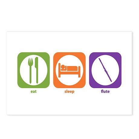 Eat Sleep Flute Postcards (Package of 8)