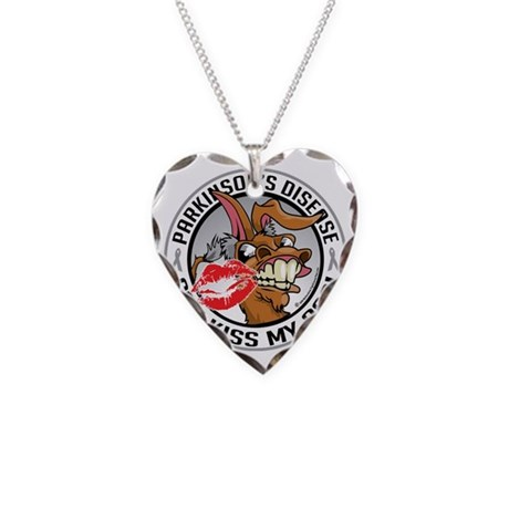 Parkinsons-Disease-Kiss-My-As Necklace Heart Charm