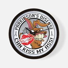 Parkinsons-Disease-Kiss-My-Ass Wall Clock