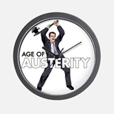 age of austerity Wall Clock