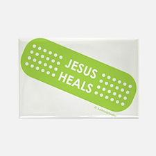 """""""Jesus Heals"""" Rectangle Magnet"""