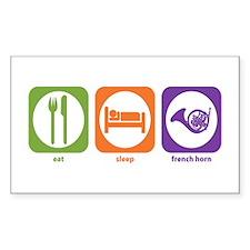 Eat Sleep Horn Rectangle Decal