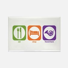 Eat Sleep Horn Rectangle Magnet