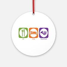 Eat Sleep Horn Ornament (Round)