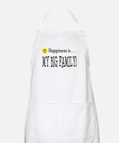 Happiness is MY BIG FAMILY BBQ Apron