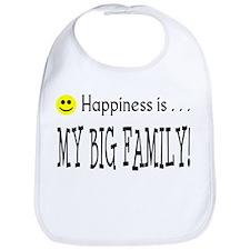 Happiness is MY BIG FAMILY Bib
