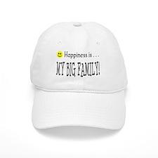 Happiness is MY BIG FAMILY Baseball Cap