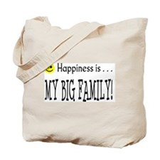 Happiness is MY BIG FAMILY Tote Bag