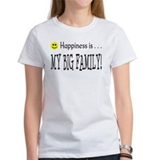 Happiness is MY BIG FAMILY Tee