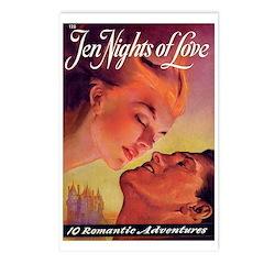 Postcards (pkg. 8) - 'Ten Nights of Love'