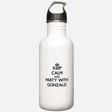 Keep Calm and Party with Gonzalo Water Bottle