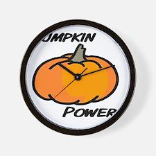 Pumpkin power transp2 Wall Clock