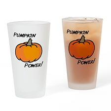 Pumpkin power transp2 Drinking Glass