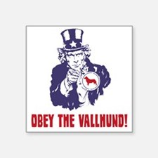 "Swedish-Vallhund18 Square Sticker 3"" x 3"""