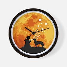 Siberian-Husky22 Wall Clock