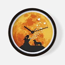 Swedish-Vallhund22 Wall Clock