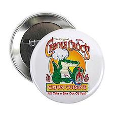 Creole Crocs Cajun Cuisine Button