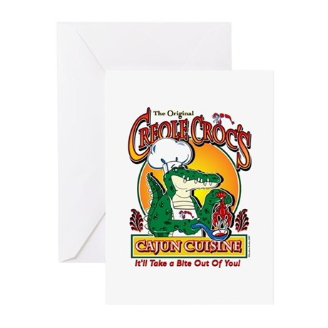Creole crocs cajun cuisine greeting cards package by for Cuisine a crocs