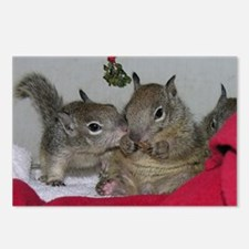 Mistletoe Squirrels Postcards (Package of 8)