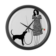 Treeing-Walker-Coonhound11 Large Wall Clock