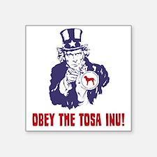 """Tosa-Inu18 Square Sticker 3"""" x 3"""""""