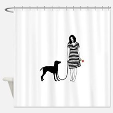 Vizsla11 Shower Curtain