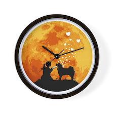 Tibetan-Mastiff22 Wall Clock