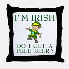 Free Beer? Throw Pillow