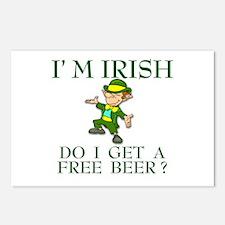 Free Beer? Postcards (Package of 8)